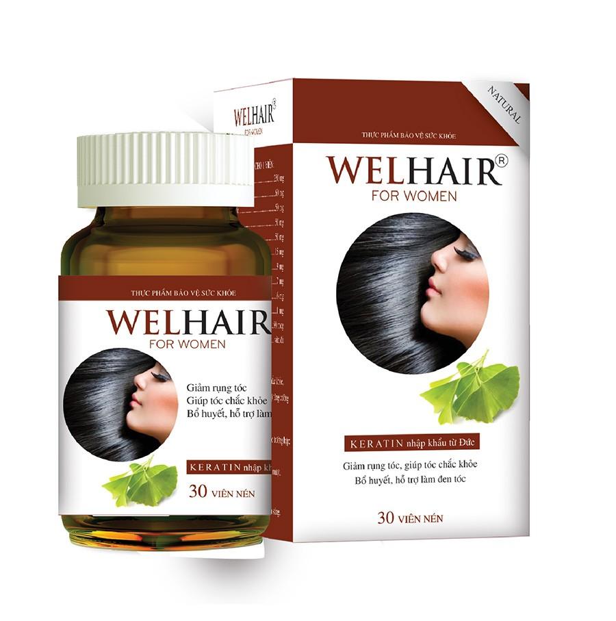 Welhair for Women Giảm hẳn lượng tóc rụng và kích thích mọc tóc nhanh