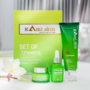 Bộ 3 sản phẩm đặc trị nám, tàn nhang, đồi mồi Kami Skin